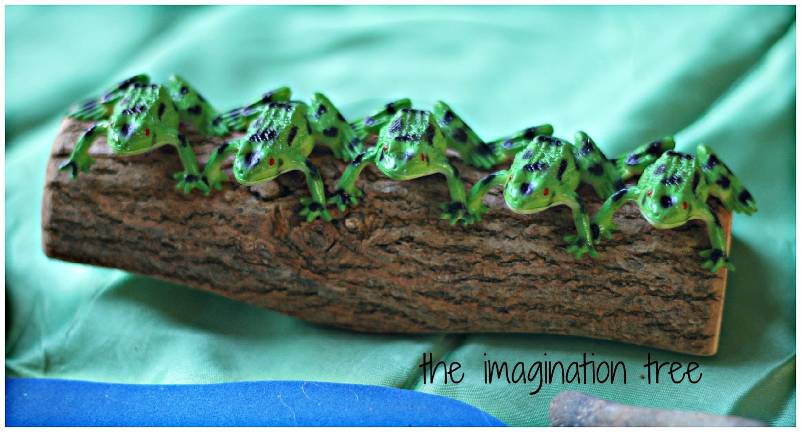 5 speckled frogs natural small world play the imagination tree