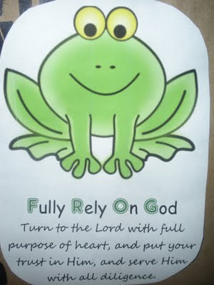 Frog Fully Rely On God Crafts