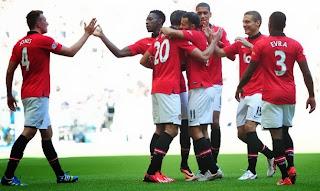 Celebración Manchester Community Shield