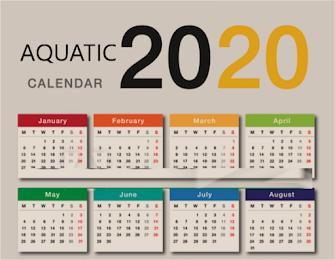 2020 Aquatic Calendar
