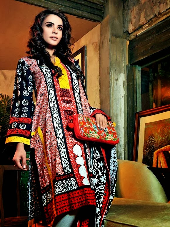 Moroccan Lawn Collection 2014 for Womens