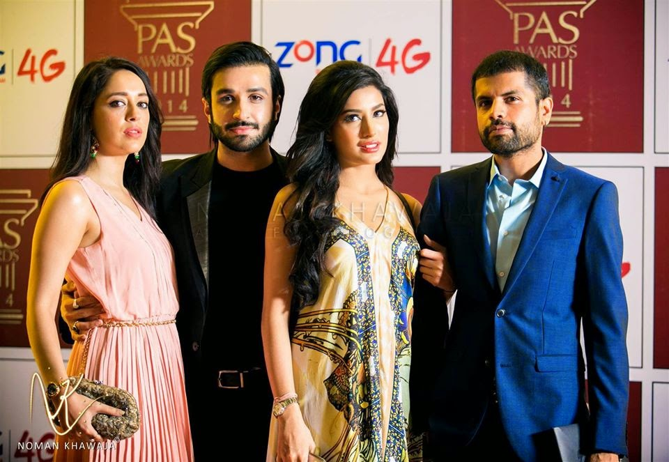 Mehwish Hayat, Azfer Rahman, Fahad Hussain, Citrus Talent, PASAWARDS2014, PAS Awards, 2014, Pkistan Fashion, Pakistan Showbiz, TVC, Ads, Pakistan Models