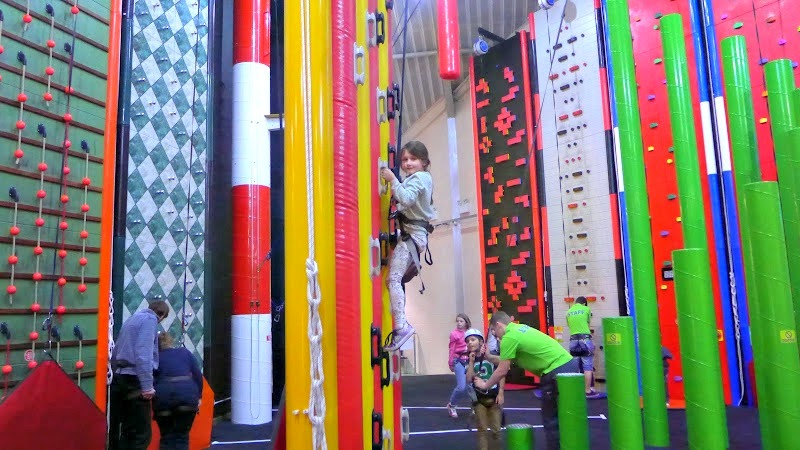 Clip n Climb Maryport - Maisie going for the top.