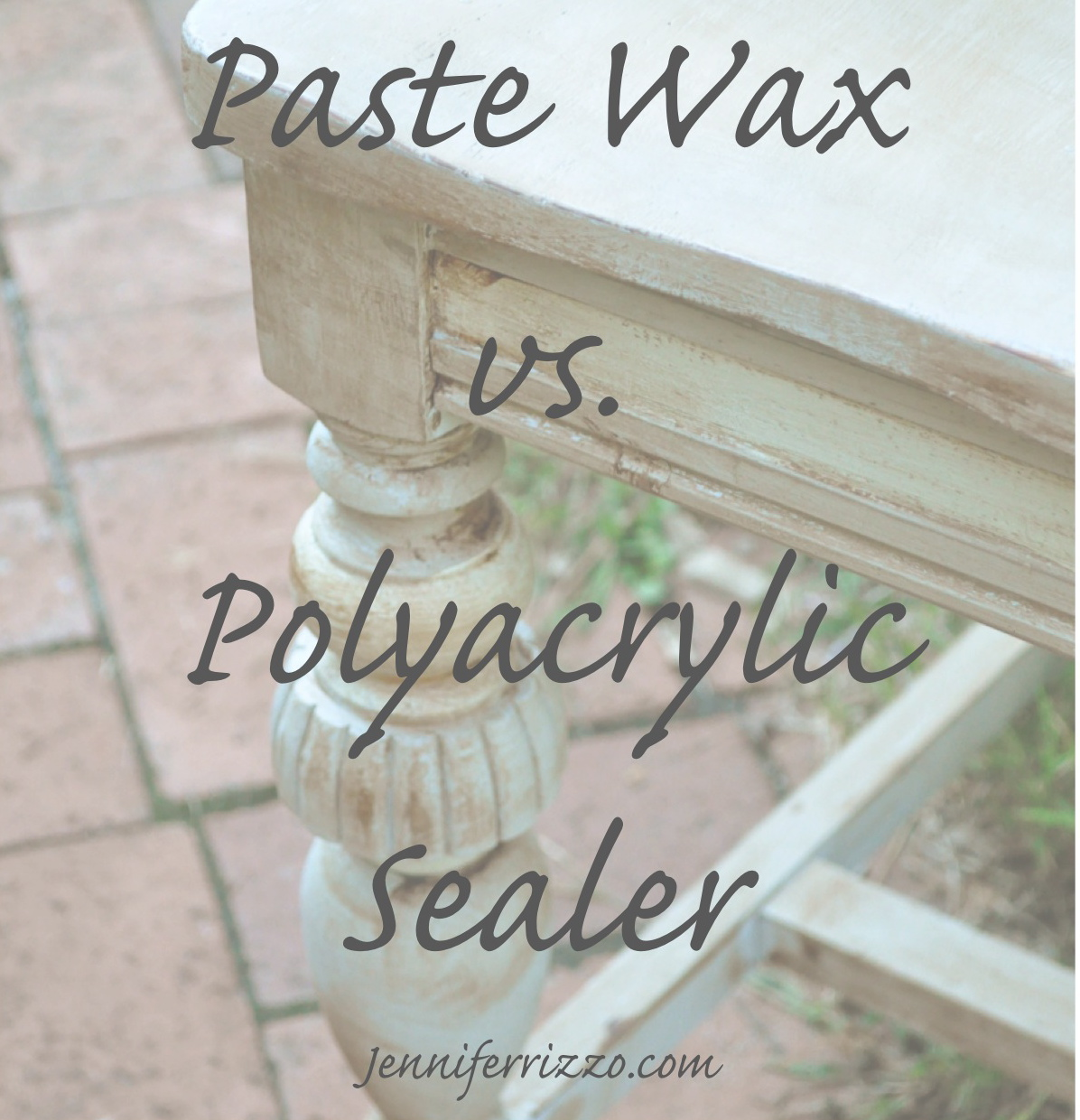 What is the best way to finsh your piece of furniture?Polyacrylic vs.paste - How To Seal Painted Furniture, Paste Wax Vs. Polyacrylic Sealers