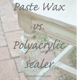 What is the best way to finsh your piece of furniture?Polyacrylic vs.paste wax