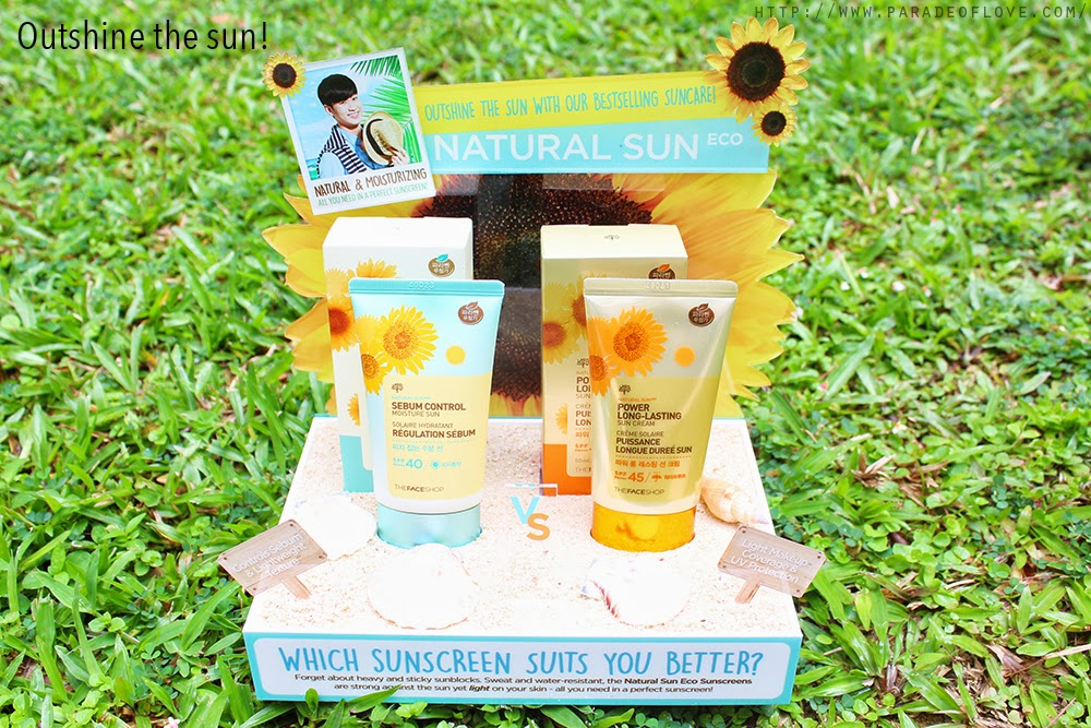THEFACESHOP'S Natural Sun Eco Sunscreens