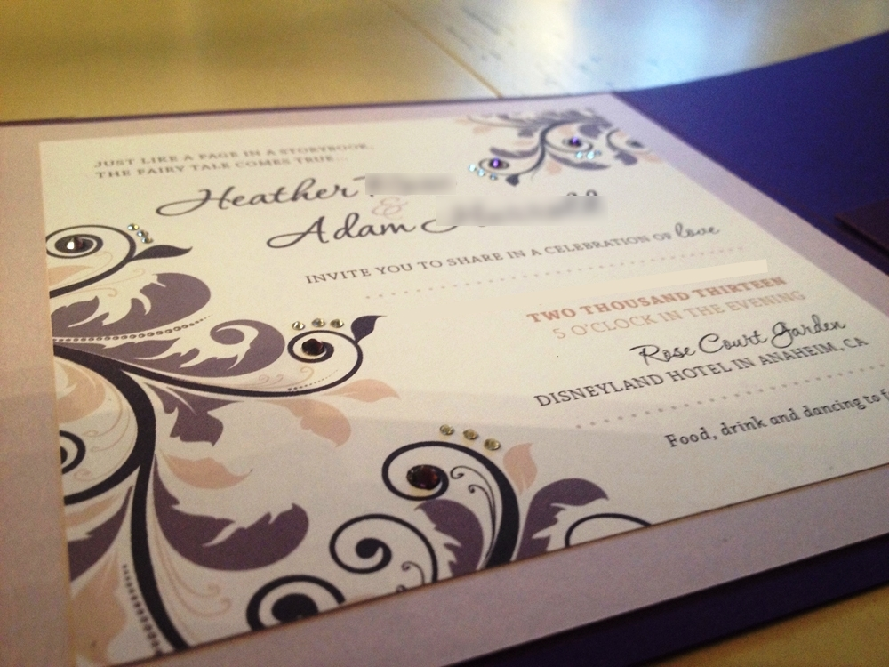 Disney Wedding Inspiration: DIY Fairy Tale Invitiations