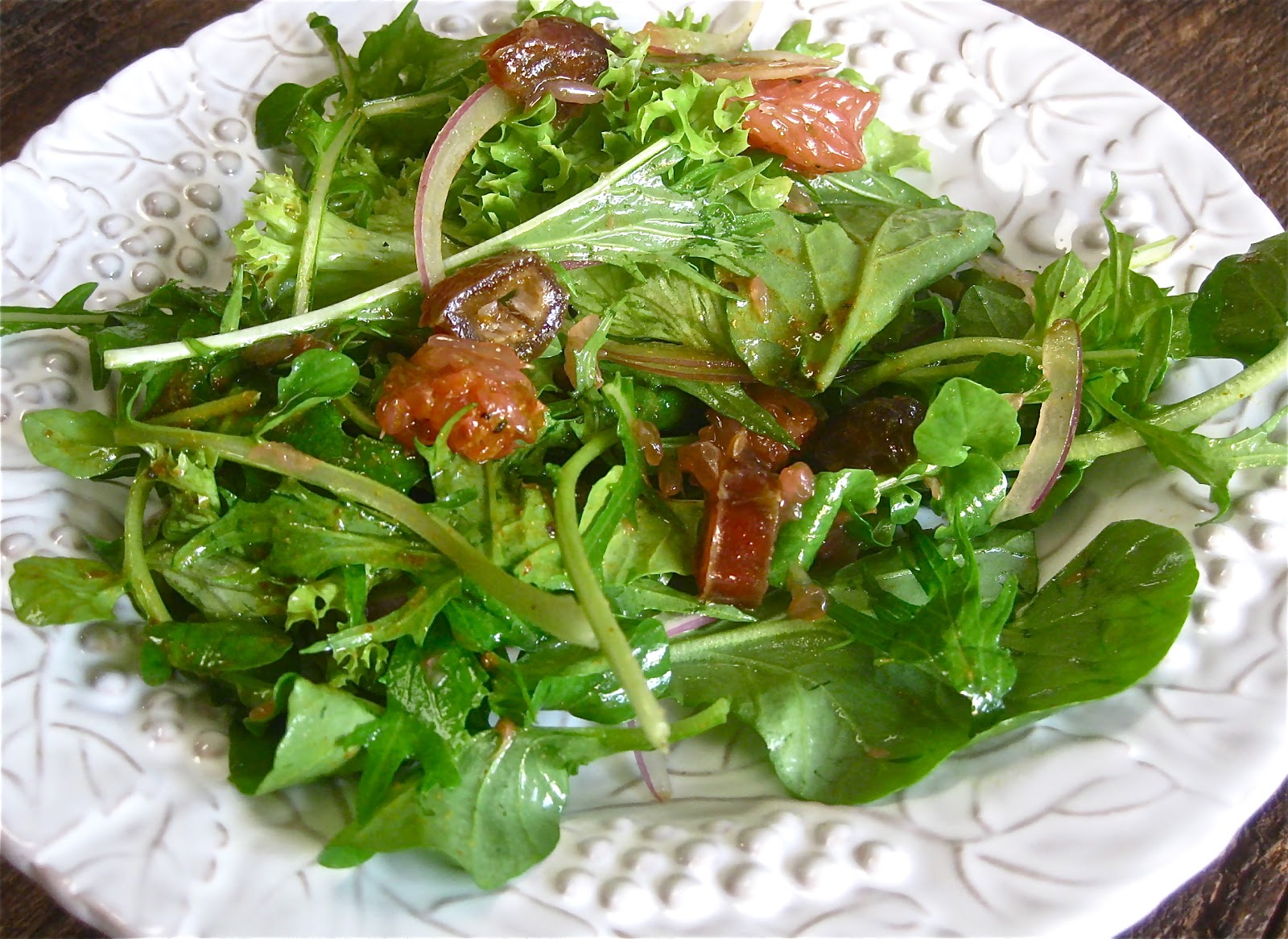 ... avocado watercress salad with green beans watercress pink grapefruit