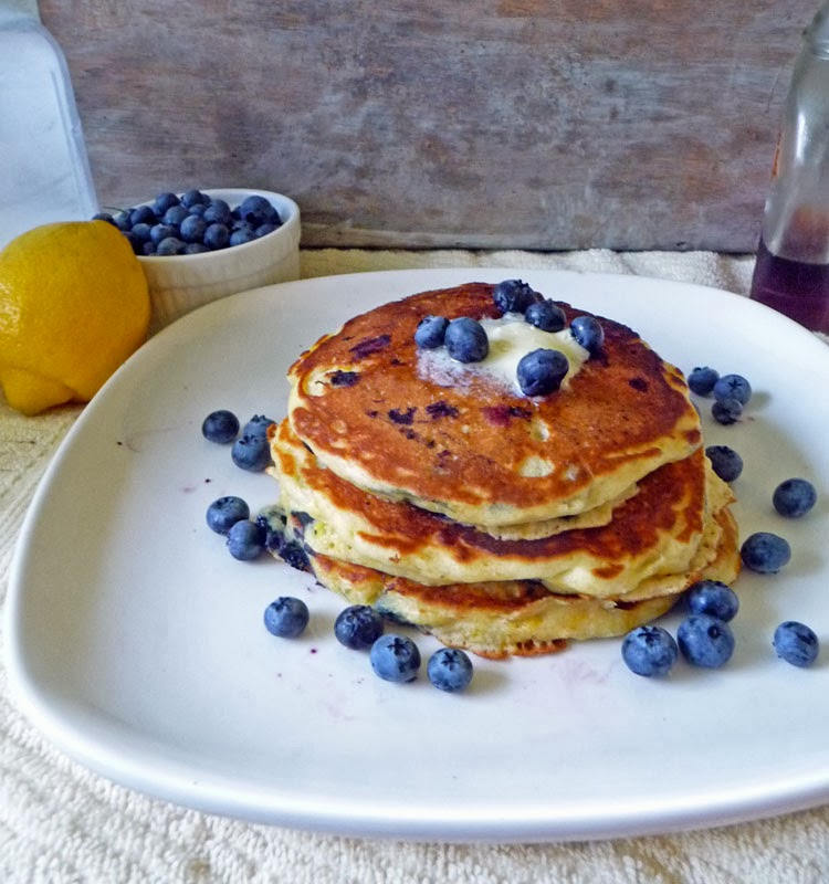 Lemon Blueberry Pancakes | Life Tastes Good