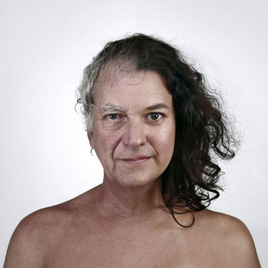 Ulric Collette fotografia surreal photoshop retratos genéticos família rostos misturados autorretratos Pai/filha - Daniel (60 anos) e Isabelle (32 anos)