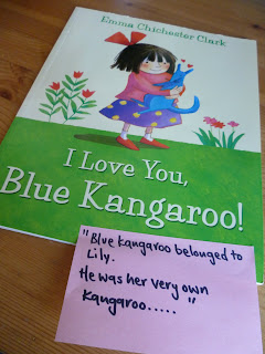 I love you Blue Kangaroo Emma Chichester Clark