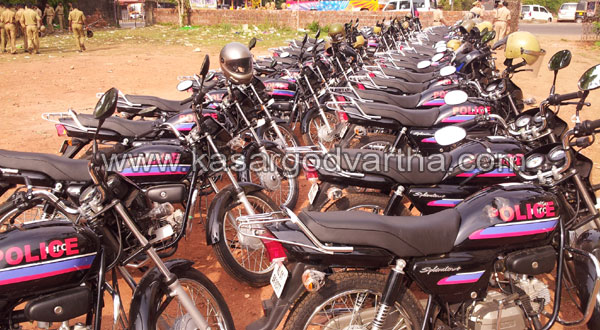 Police, Bike, Car, Kasaragod, SP, Kerala, SP S. Surendran, Special Package, Flag off, Malayalam news