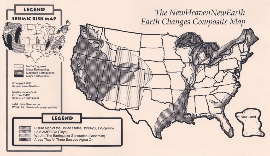 The Th Dimension Age Of Aquarius The Light Earth Changes - New us map after earthquake