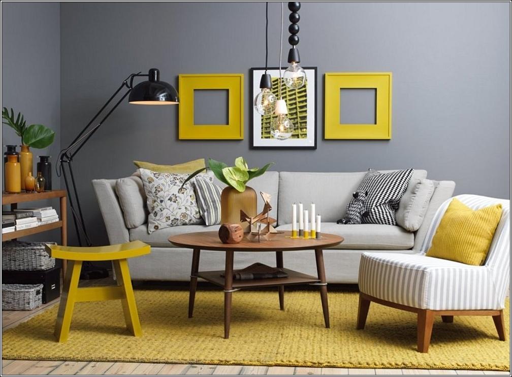 concevez votre maison en jaune et gris d cor de maison d coration chambre. Black Bedroom Furniture Sets. Home Design Ideas