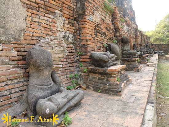 Beheaded buddha statues in Wat Mahathat, Ayutthaya Historical Park