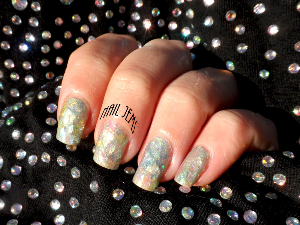 Nail Jems: Birthday Nails - Opal Effect with Mylar Flakes