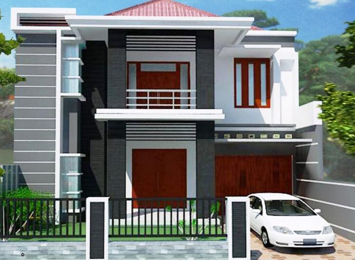 desain rumah tingkat 2 bertingkat minimalis modern sederhana