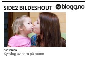GREIT Å KYSSE BARNET PÅ MUNNEN?