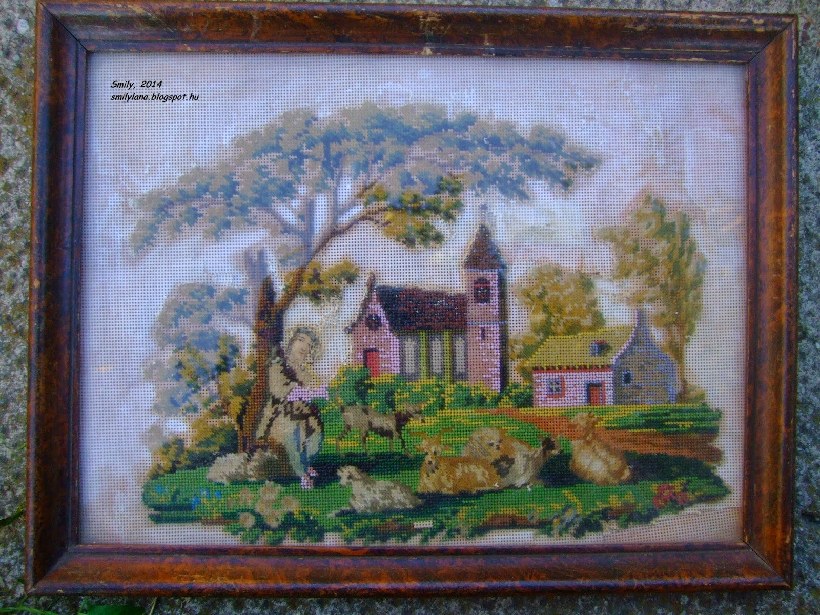 Вышивки из старинных картин 453