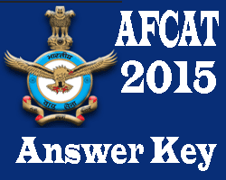 AFCAT Answer Key 2016