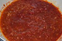Суп харчо: Сливы ткемали добавить в зажарку