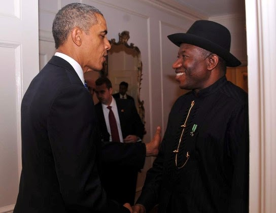 Exclusive photos  GEJ vISITS OBAMA