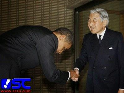 Obama membungkuk di jepang