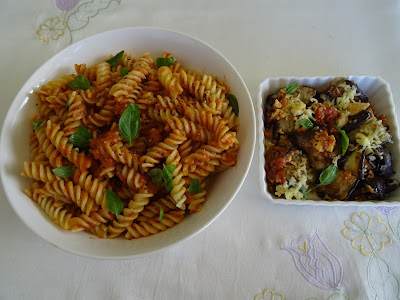 Fusilli With Cheesy Eggplant