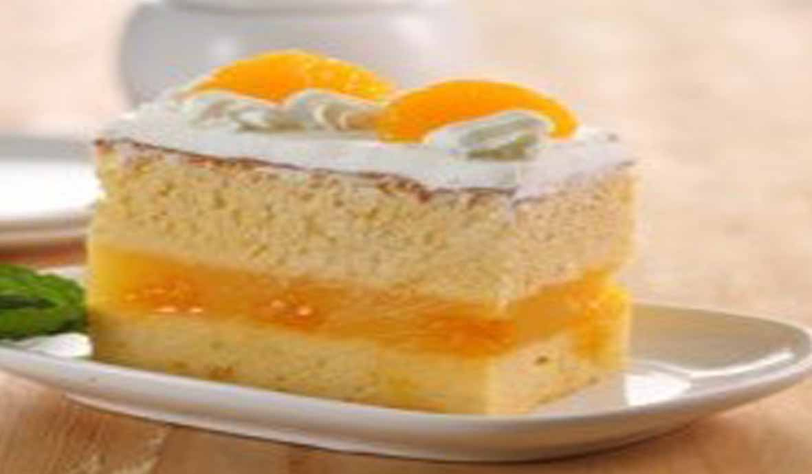 Mandarin Orange Layered Cotton Cake