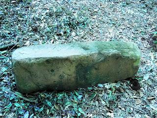 Pedra procedente da antiga redução de Corpus Christi.