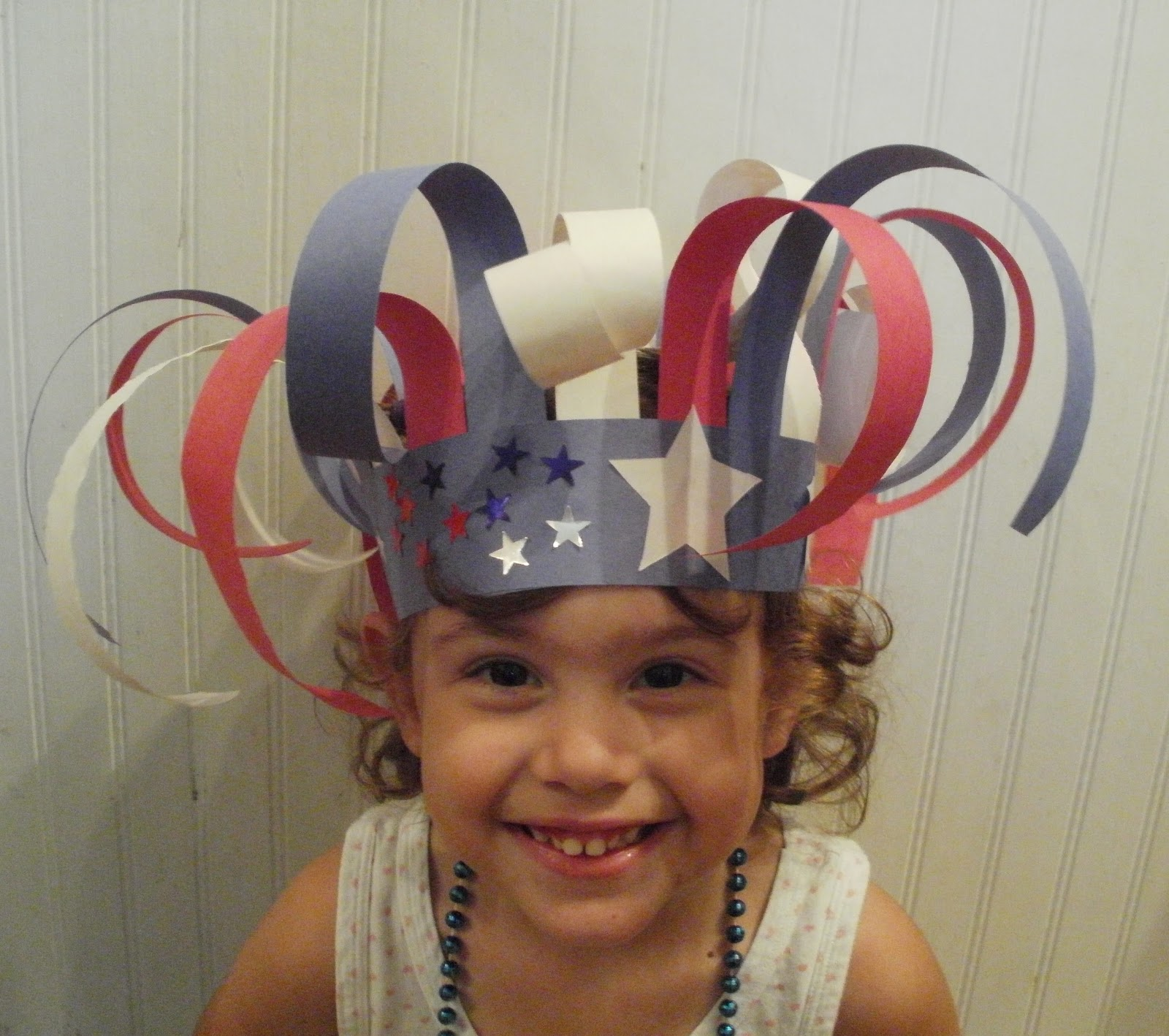 Little stars learning patriotic preschool hats for Craft hats for kids