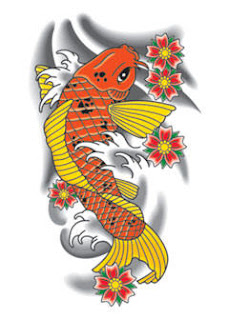 koi fish tattoo, tattooing