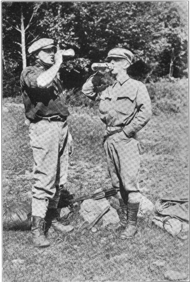 Companion and  Arthur O. Friel  at their camp