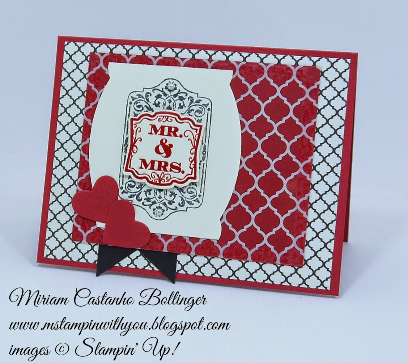 SSSC 232, Miriam Castanho Bollinger, #mstampinwithyou, stampin up, demonstrator, sssc, wedding card, chalk talk, label love, apothecary accents framelit, artisan label punch, banner framelit, heart collection framelit, modern medley, quatrefancy specialty dsp, su