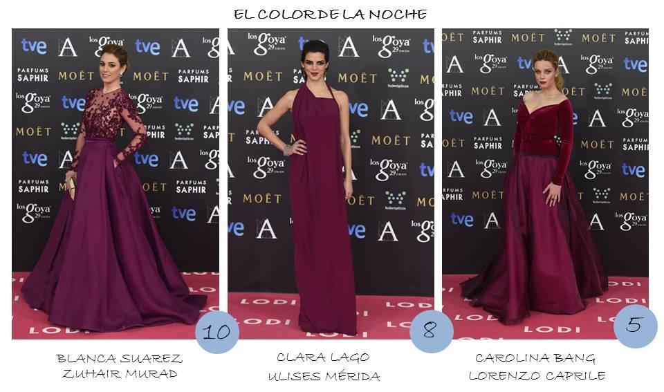 Color de la noche OnlyNess alfombra roja Goya 2015