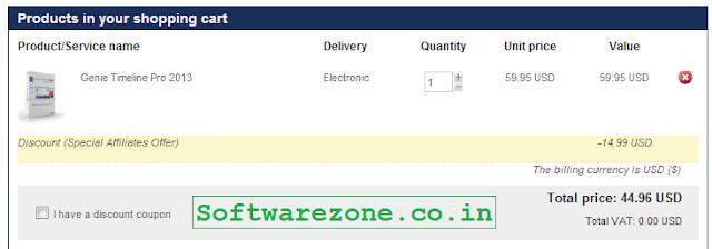 genie timeline 25% discount code
