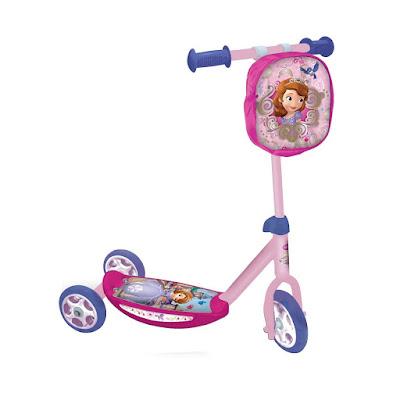 JUGUETES - PATINETES  Disney La Princesa Sofia - Patinete Infantil | 3 Ruedas + bolsa  Mondo Toys 28081 | Comprar en Amazon