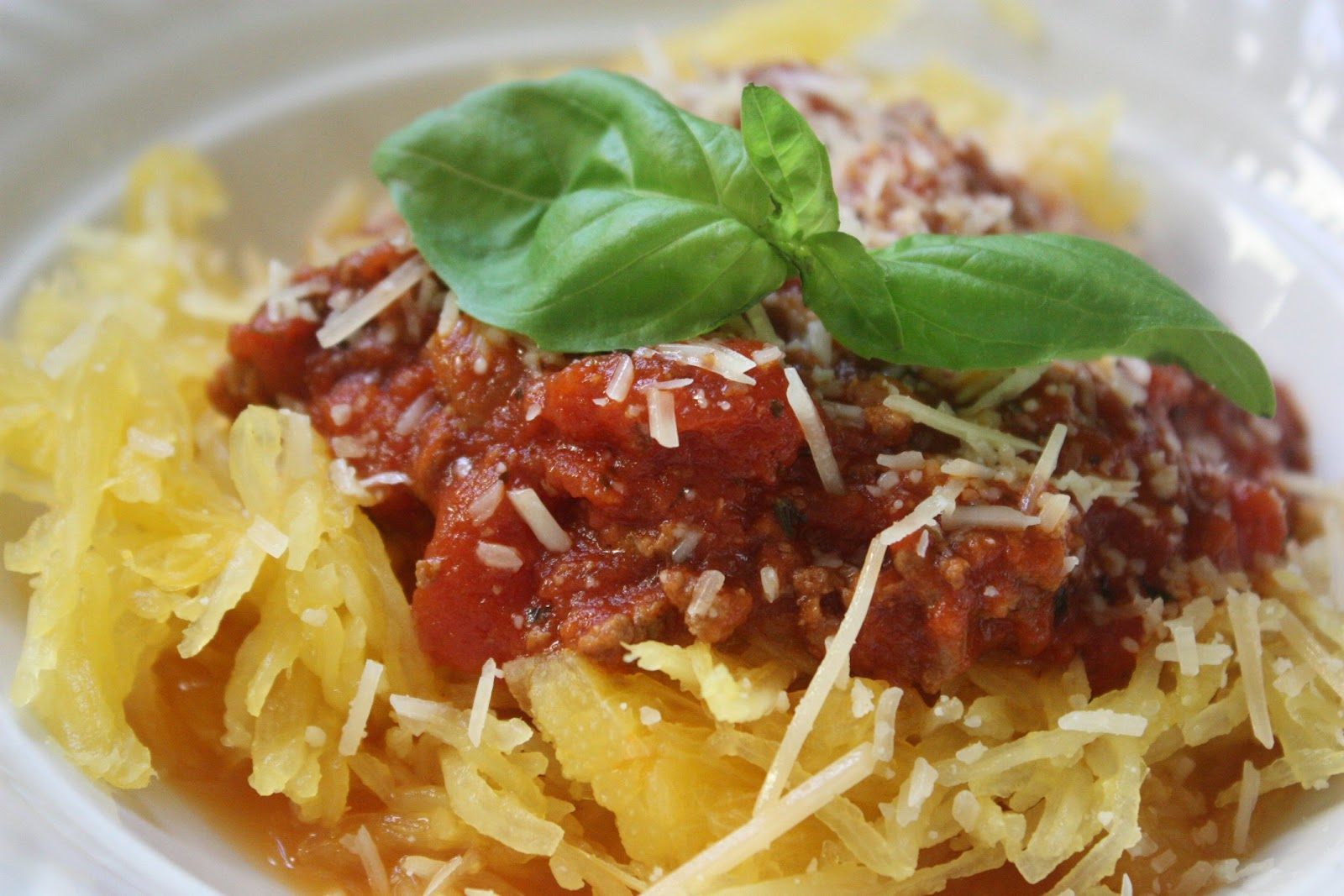 Spaghetti Squash with 4-Hour Meat Sauce | Low-Carbing It