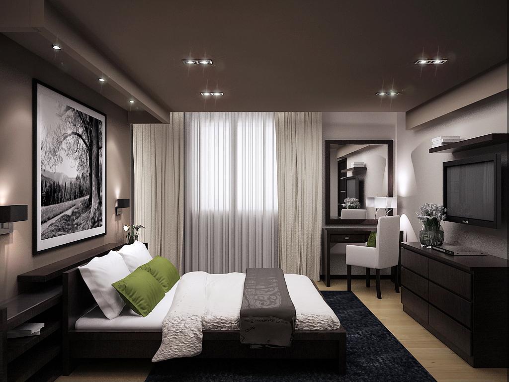 Спальня в коттедже фото