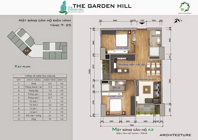 căn a3 chung cư the garden hill