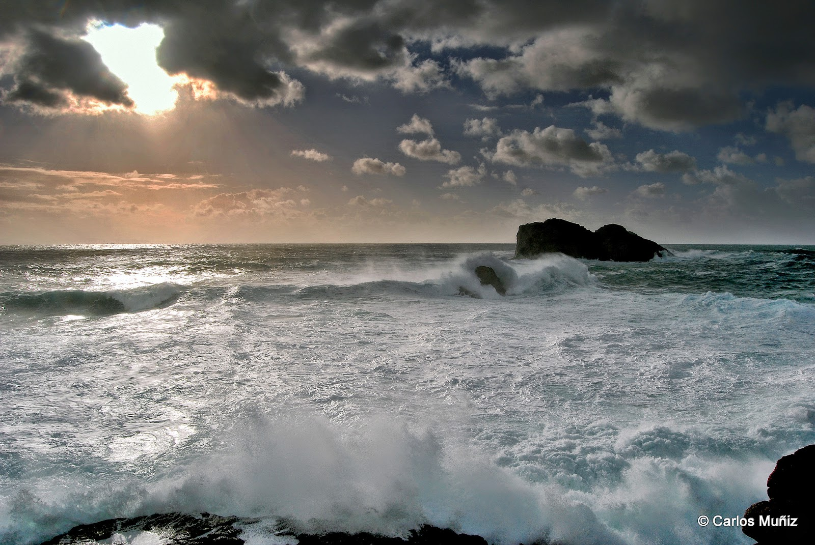 mar, temporal, Islas Gabeiras 1 (Doniños)