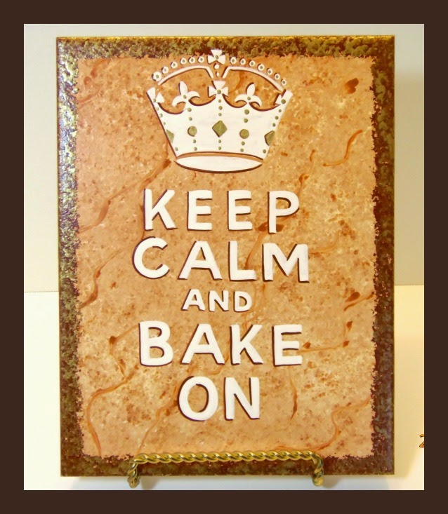 Keep Calm and Bake On Painted Ceramic Tile via Kudos Kitchen by Renee