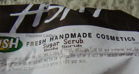 lush hand made sugar scrub