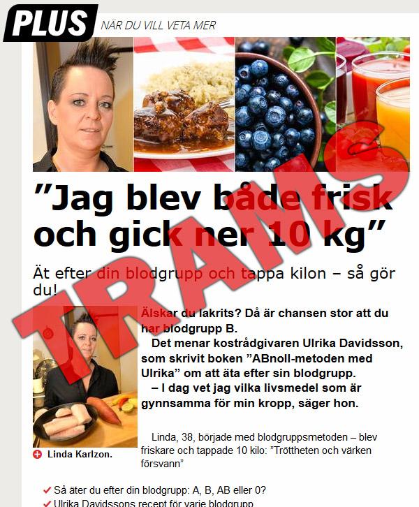 diet efter blodgrupp