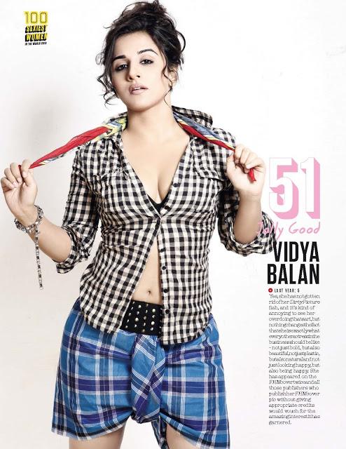 Hottest Vidya Balan FHM magazine scan