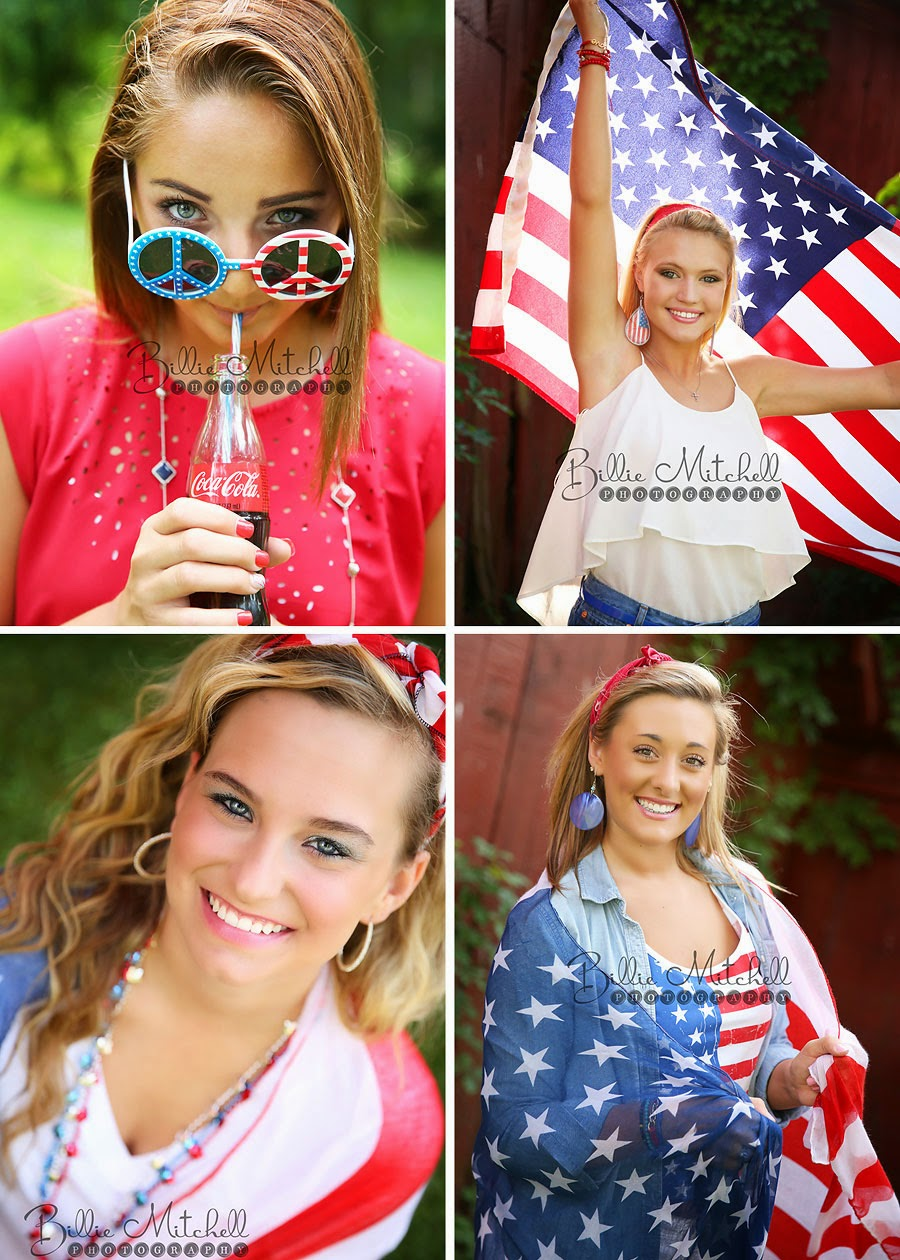 girls with american flag