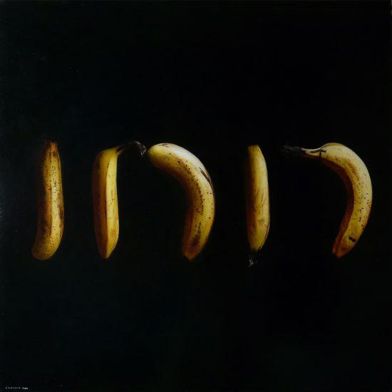 Emanuele Dascanio pinturas retratos e natureza morta hiper-realistas Bananas