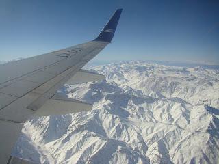 Paisagem vista do avião - cordilheira dos andes Mendoza