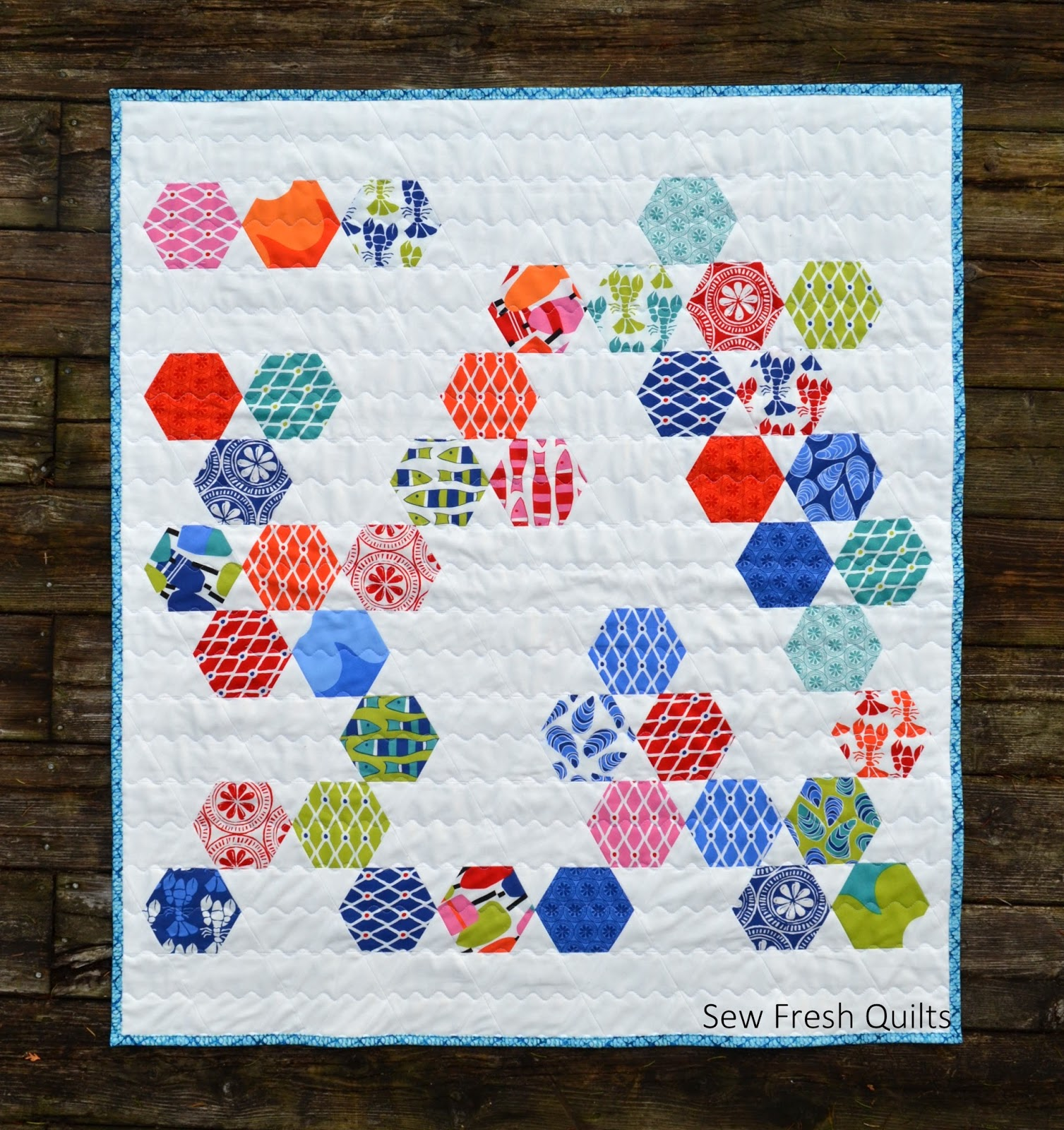 Make an Easy Baby Quilt with Hexagons and Equilateral Triangles ... : how to make hexagons for quilts - Adamdwight.com