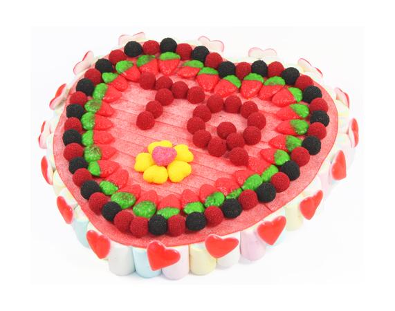 tarta de gominolas para san valentin